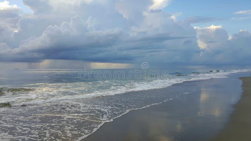 Tybee Island Shoreline stock photo
