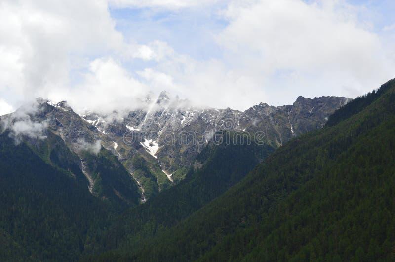 Tybet śniegu góra obrazy royalty free