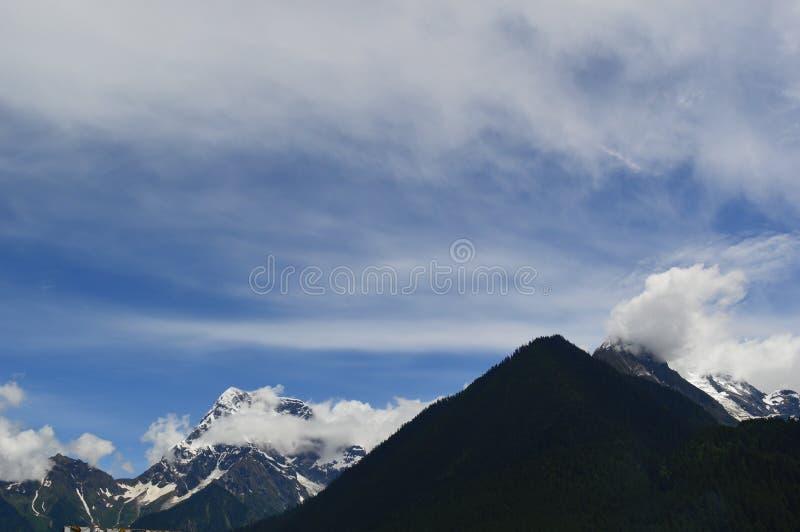 Tybet śniegu góra fotografia royalty free