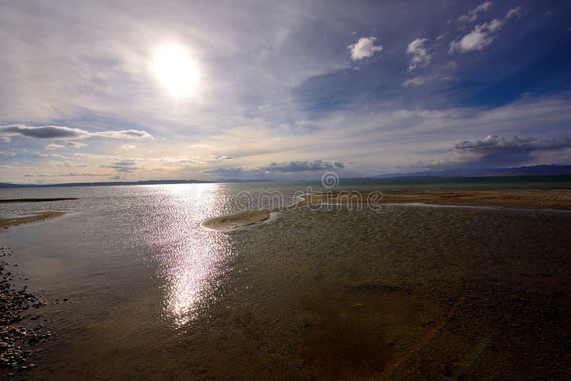 Tybet jezioro Manasarovar zdjęcia stock