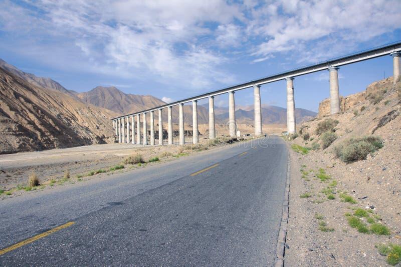 Tybet kolej i trafficway fotografia stock