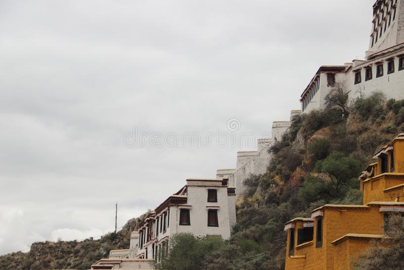 Tybet Potala pałac Chiny obraz royalty free