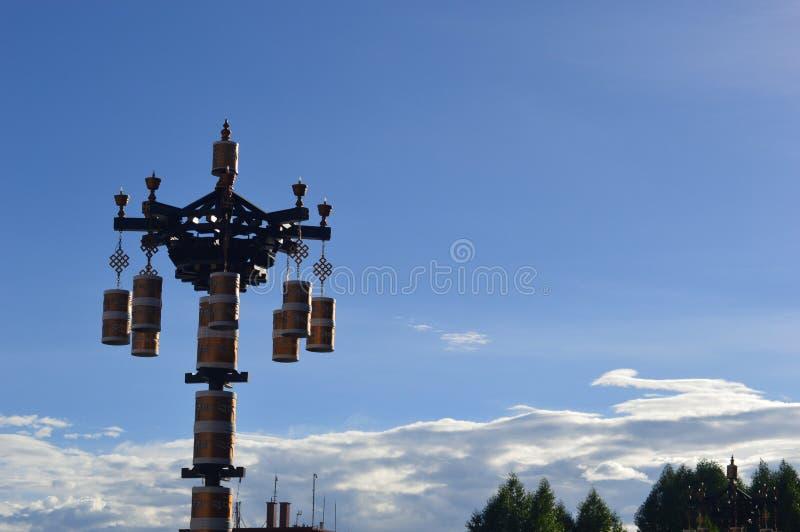 Tybet zmierzchu modlitwa obrazy royalty free