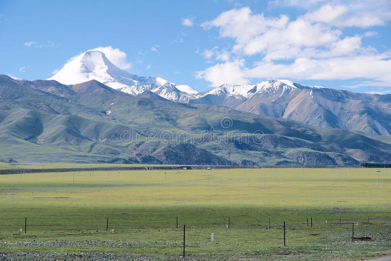 Tybetańska sceneria fotografia royalty free
