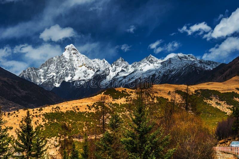 Tybetański krajobraz obrazy royalty free