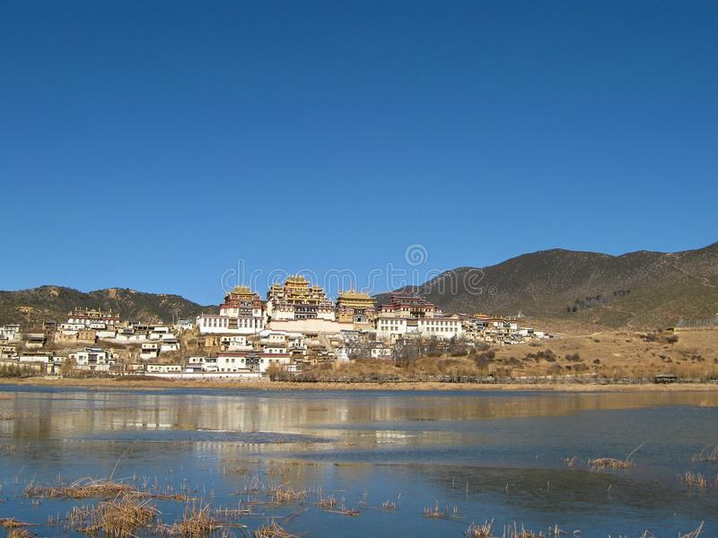 Tybetański monaster w Zhongdian obraz stock