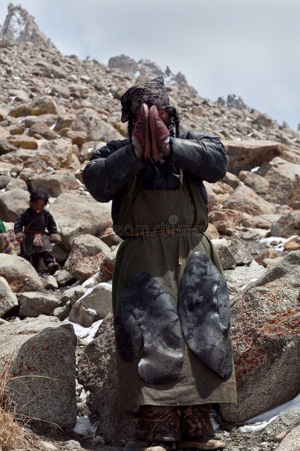 Tybetański pielgrzym zdjęcia stock