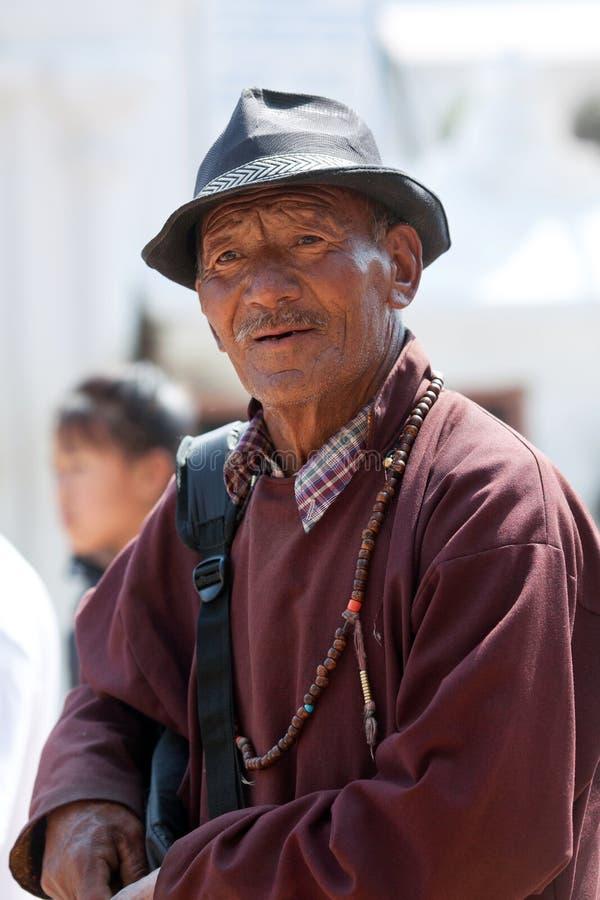 Tybetański pielgrzym, Nepal zdjęcie stock