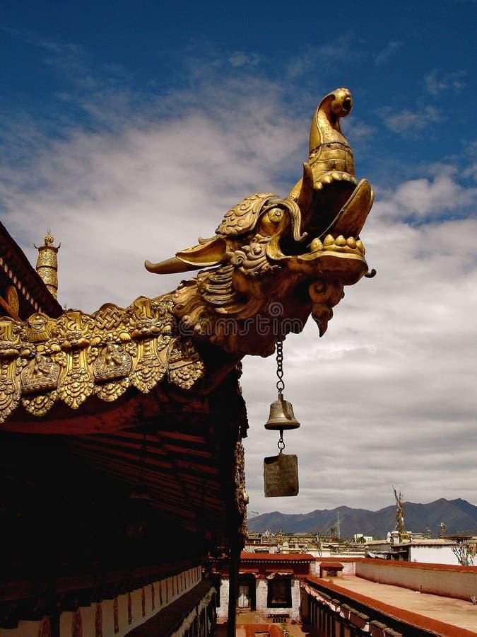 Tybetański smoka Finial zdjęcie royalty free