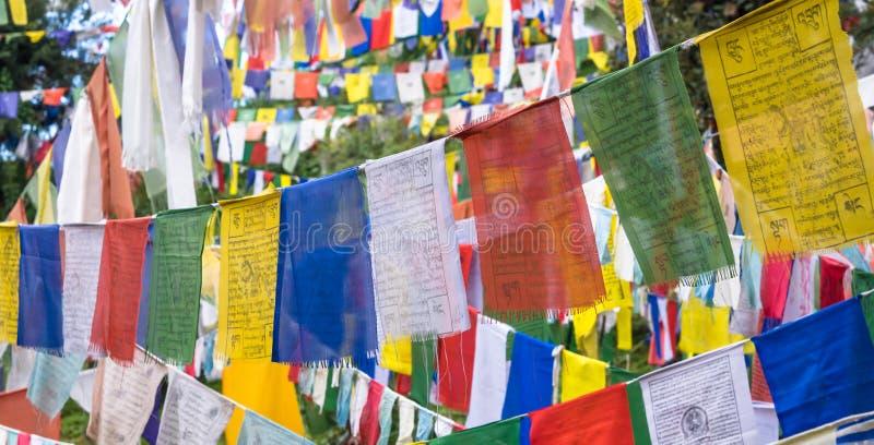 Tybetańskie modlitw flaga zdjęcia royalty free