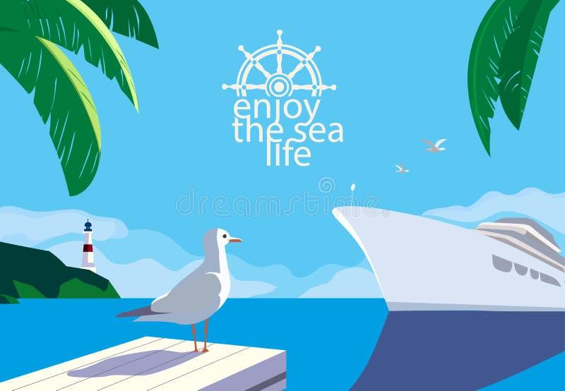 Tyck om havslivet royaltyfri illustrationer