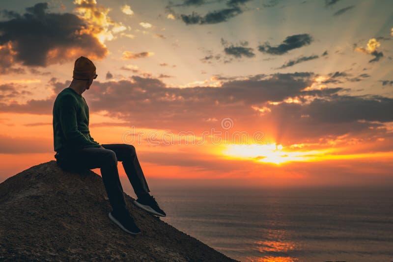 tyck om solnedgången royaltyfri bild
