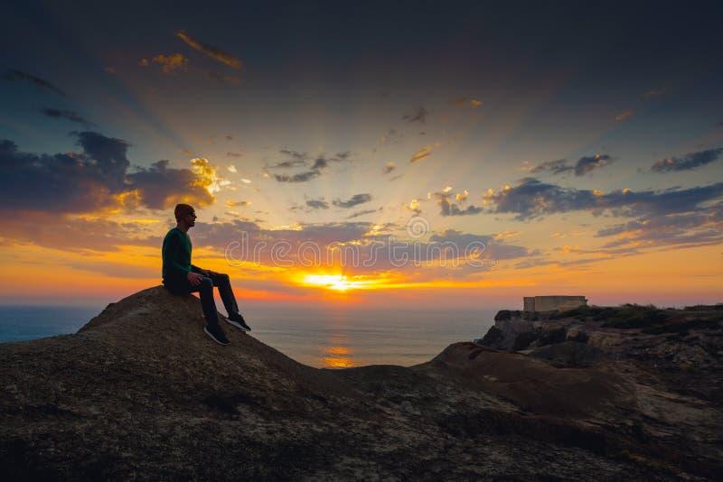 tyck om solnedgången fotografering för bildbyråer