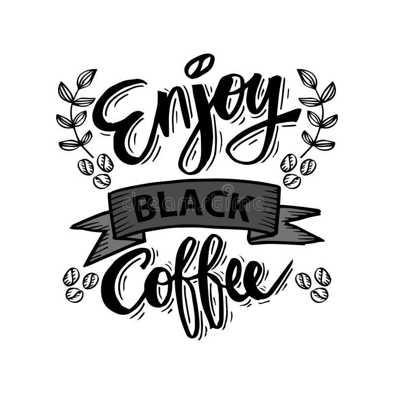 Tyck om svart kaffe royaltyfri illustrationer