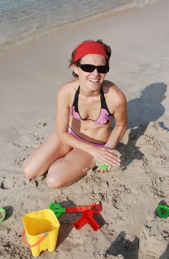 tycka om för strand royaltyfri foto