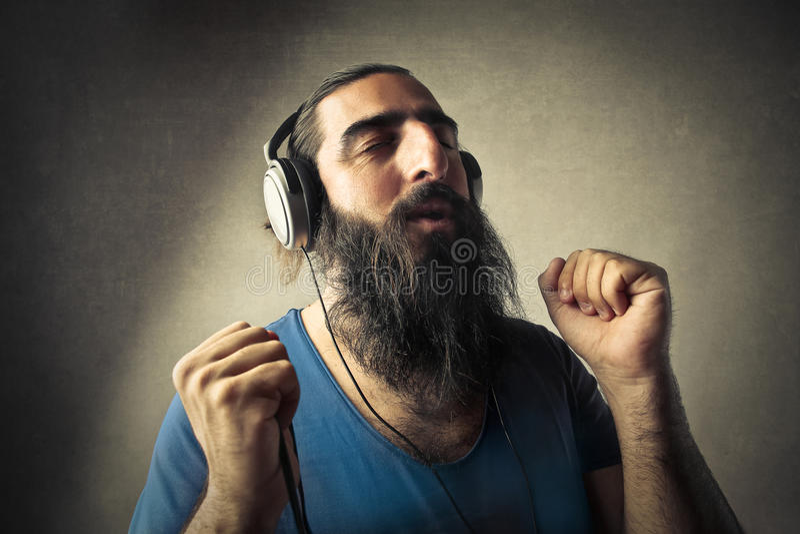 tycka om musik arkivfoto