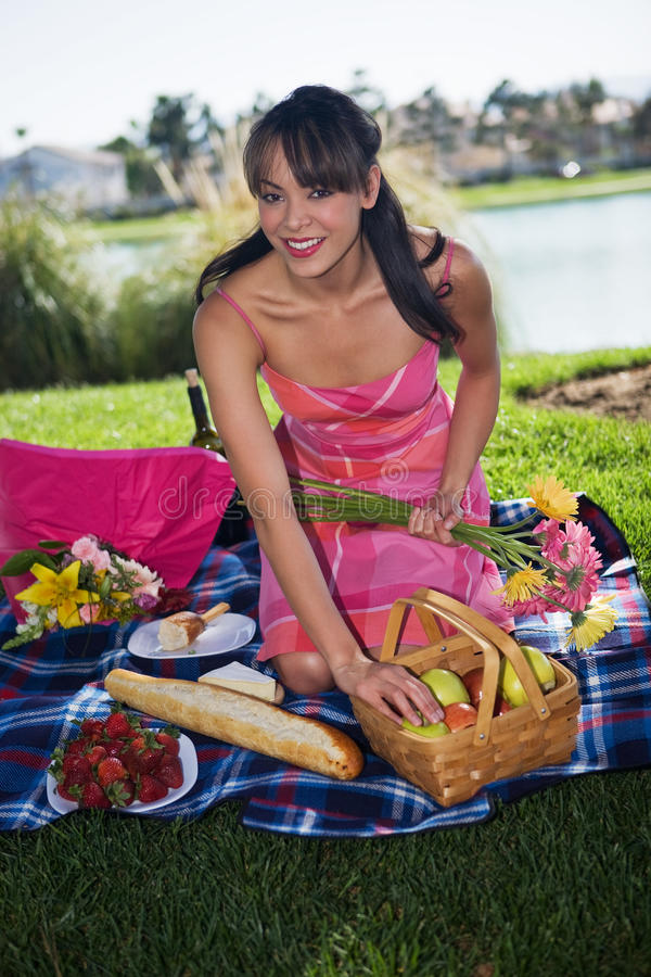 tycka om picknicken fotografering för bildbyråer