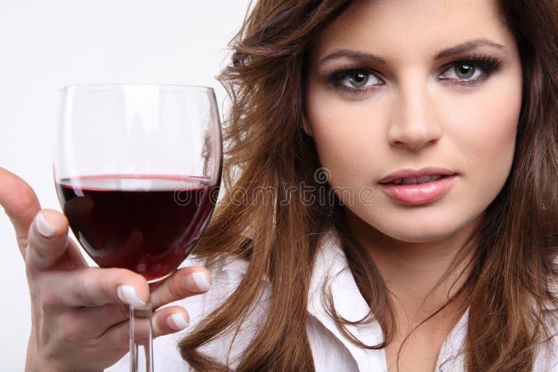 tycka om rött vin royaltyfri bild