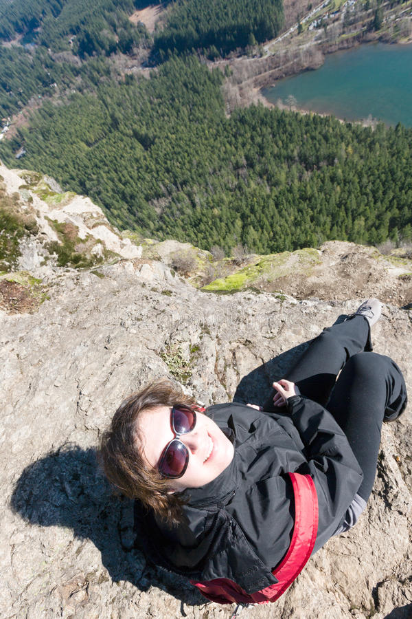 Tycka om sikten från skallerormen Ledge Trail arkivfoto