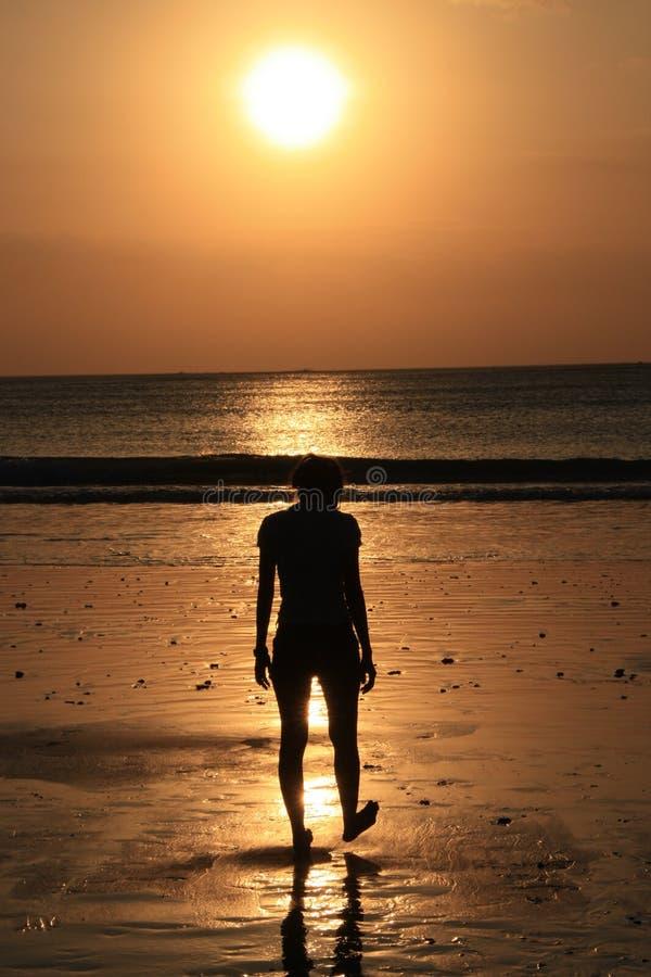tycka om solnedgång royaltyfria foton