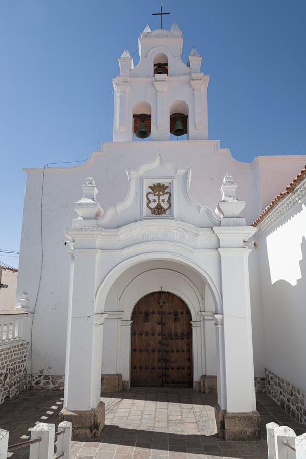 1991 tydligt för stad för kyrkor för bolivia byggnadscapital koloniala kulturella har det viktiga arvet dess för scapescapes för  arkivfoto