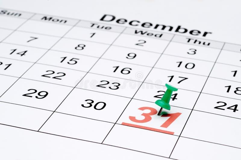 tydligt nytt s år för kalenderhelgdagsafton arkivbilder