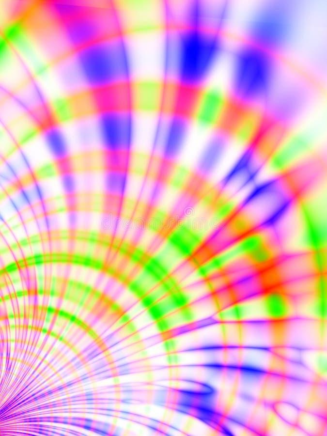 Tye färbte Streifen-Muster vektor abbildung
