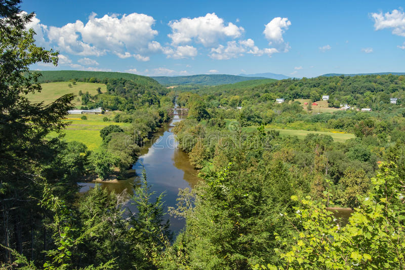 Tye and James Rivers – Buckingham County, Virginia, USA. The confluence of the Tye and James Rivers nestled in the foothills of the Blue Ridge Mountains stock images