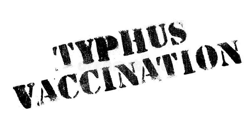 Tyfusu szczepienia pieczątka royalty ilustracja