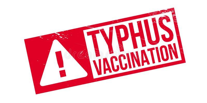 Tyfusu szczepienia pieczątka ilustracja wektor
