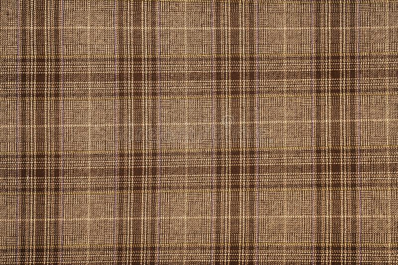 Tyg för bomull för tartanpläd naturligt Sömlös tegelplattatextur för bakgrunden royaltyfri fotografi