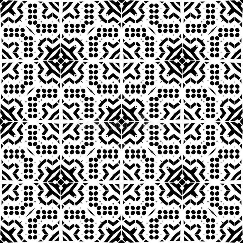 Tyg för stjärna för vit för vektor för designmodell för svart geometrisk för sebra dekorativ för matta för kultur elegant graf fö royaltyfri illustrationer