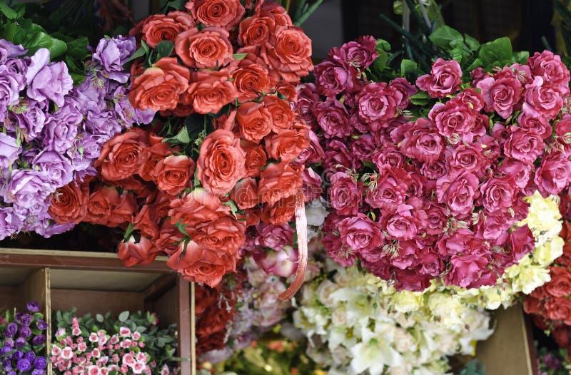 Tygblomma på blomsterhandeln royaltyfri fotografi