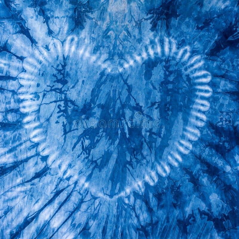 Tyget är indigoblå färg, lokalt tyg arkivbilder