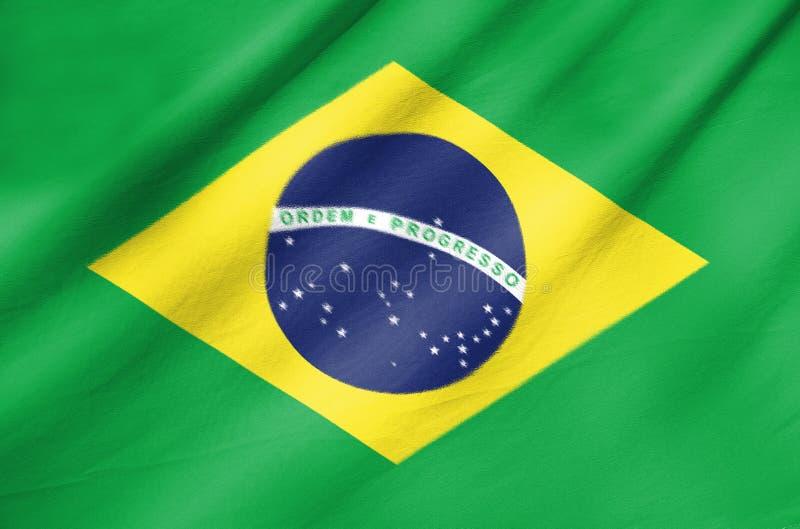 Tygflagga av Brasilien royaltyfri foto