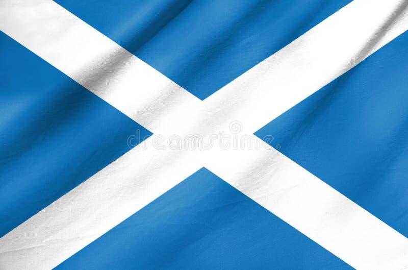 Tygflagga av Skottland arkivfoto