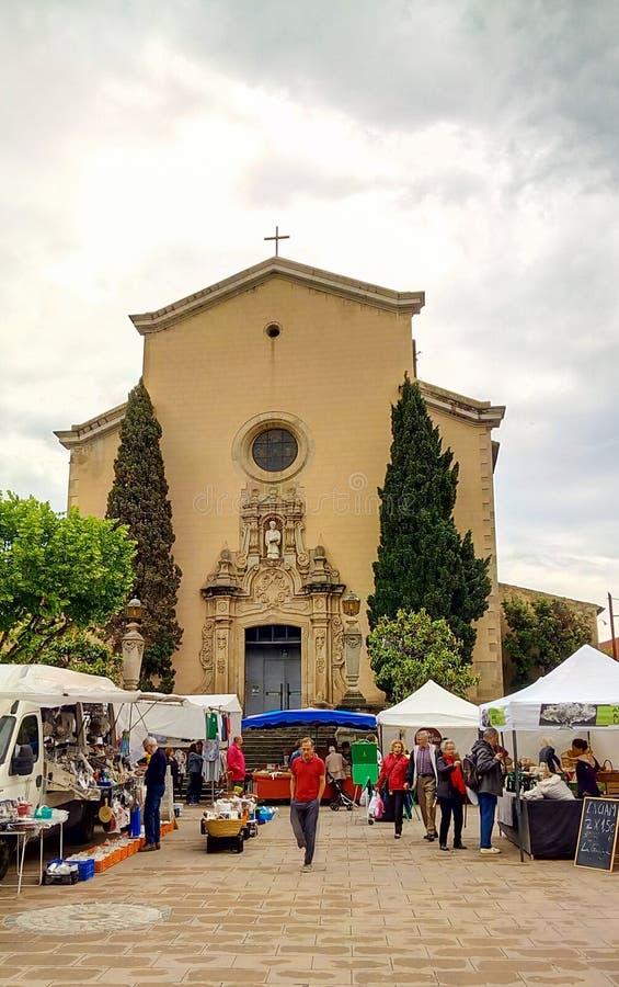 Tygodniowy Sobota rynek przy losu angeles Garriga miasteczkiem zdjęcia stock