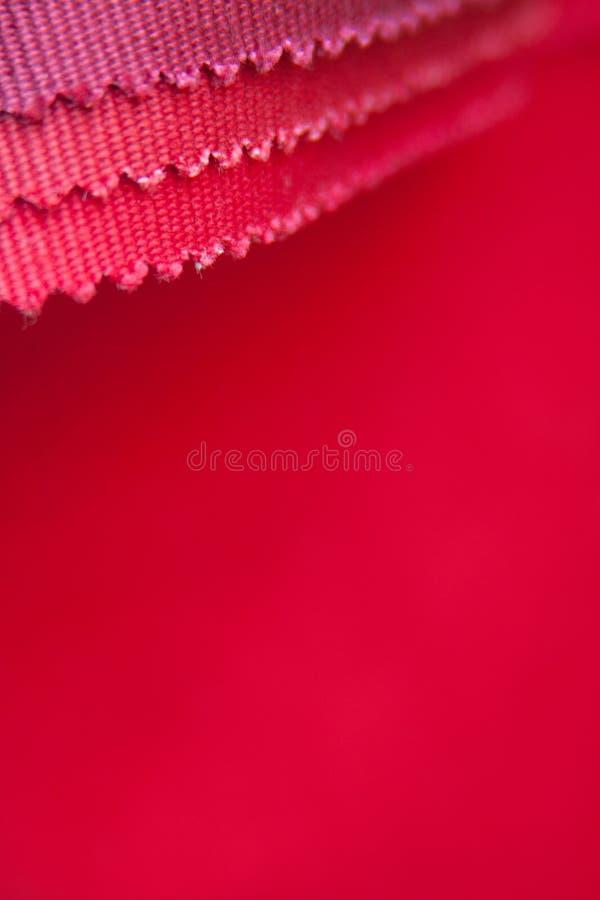 Tygprövkopia för röd färg royaltyfri fotografi
