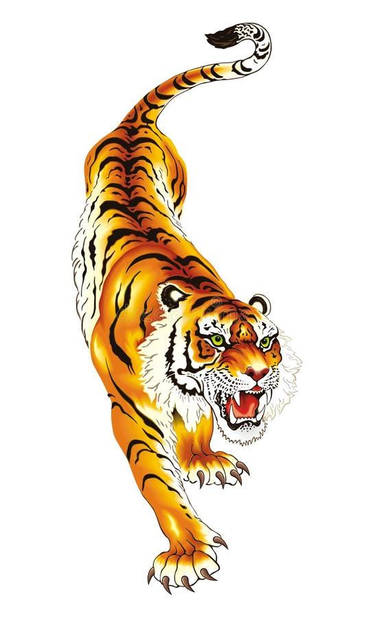 tygrys royalty ilustracja