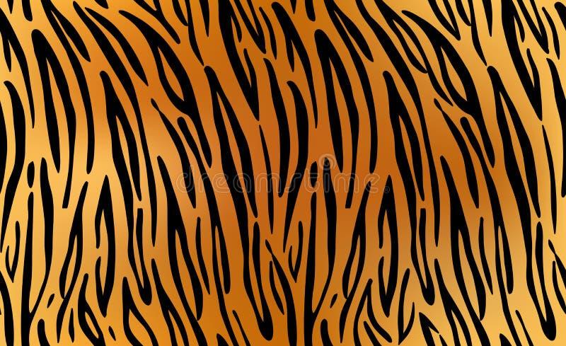 Tygrys Deseniowy tekstury powtarzać bezszwowy ilustracja wektor
