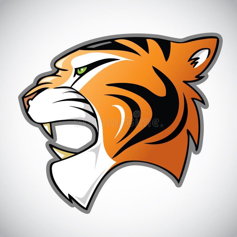 Tygrys głowa ilustracja wektor