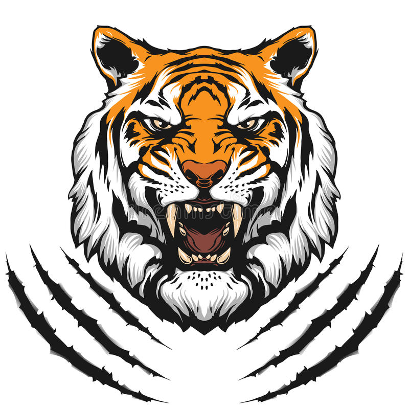 Tygrys kierownicza ilustracja ilustracja wektor