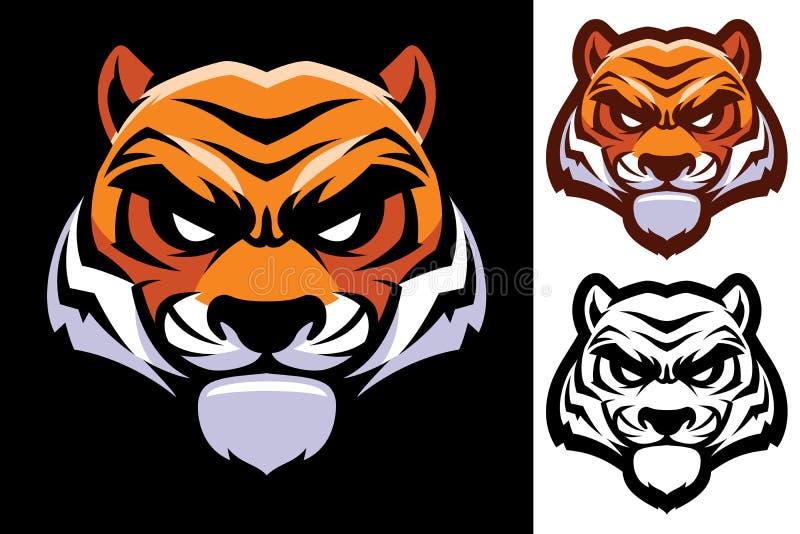 Tygrys kierownicza maskotka ilustracja wektor