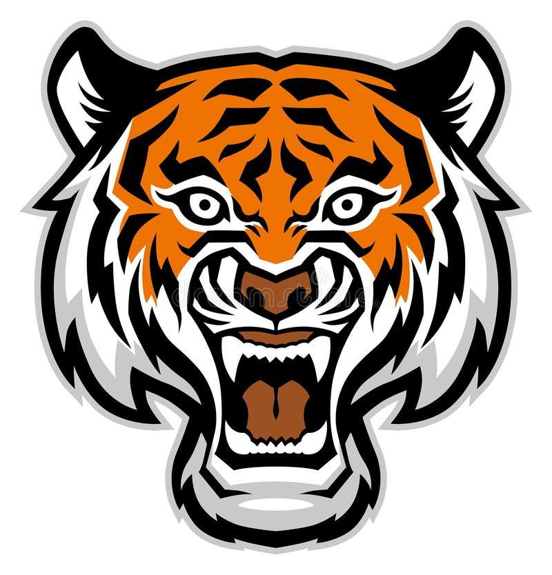 Tygrys kierownicza maskotka ilustracji