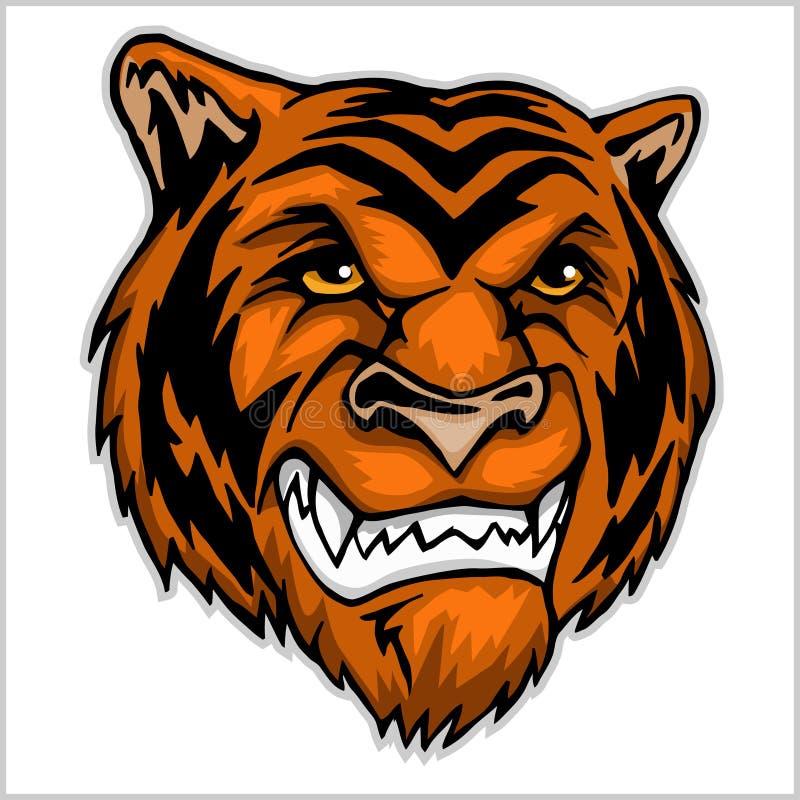 Tygrys kierownicza maskotka royalty ilustracja