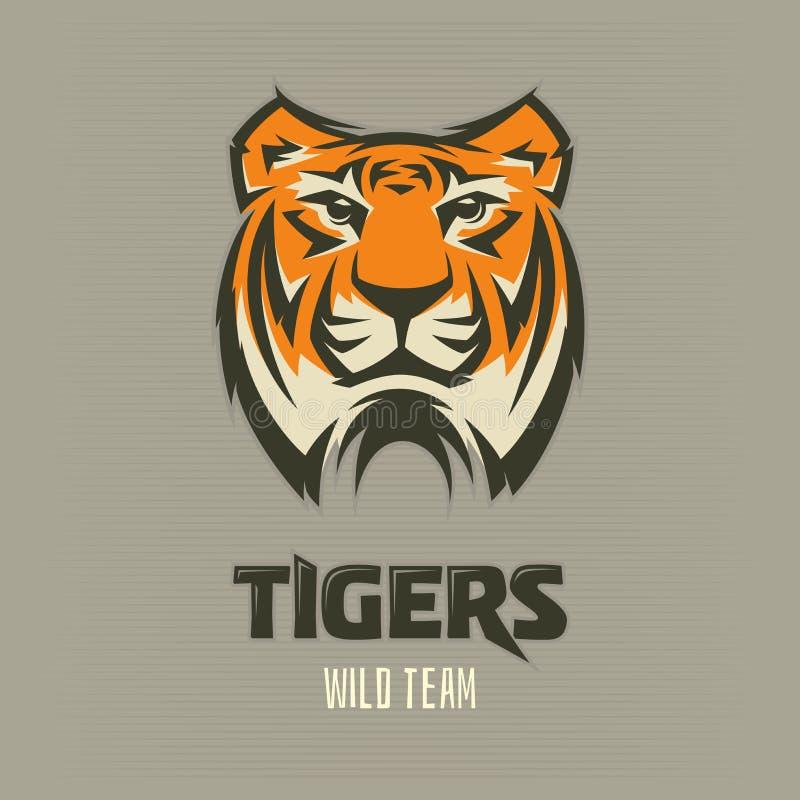 Tygrys - logo, ikona, ilustracja obraz royalty free