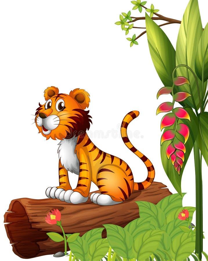 Tygrys nad bagażnik royalty ilustracja