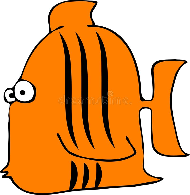 tygrys ryb royalty ilustracja