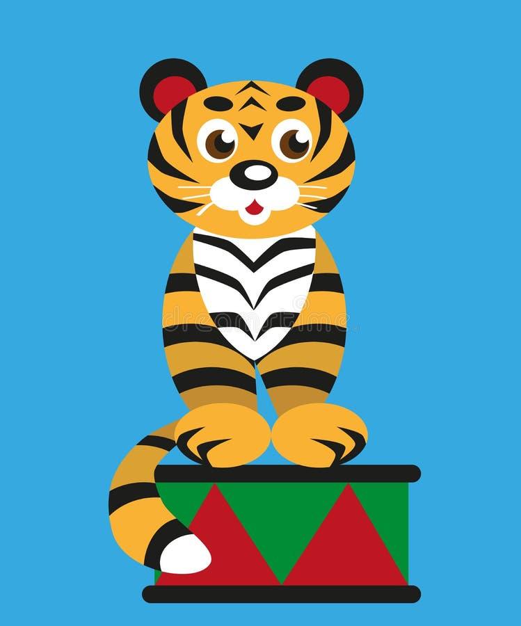 Tygrys w cyrku ilustracja wektor