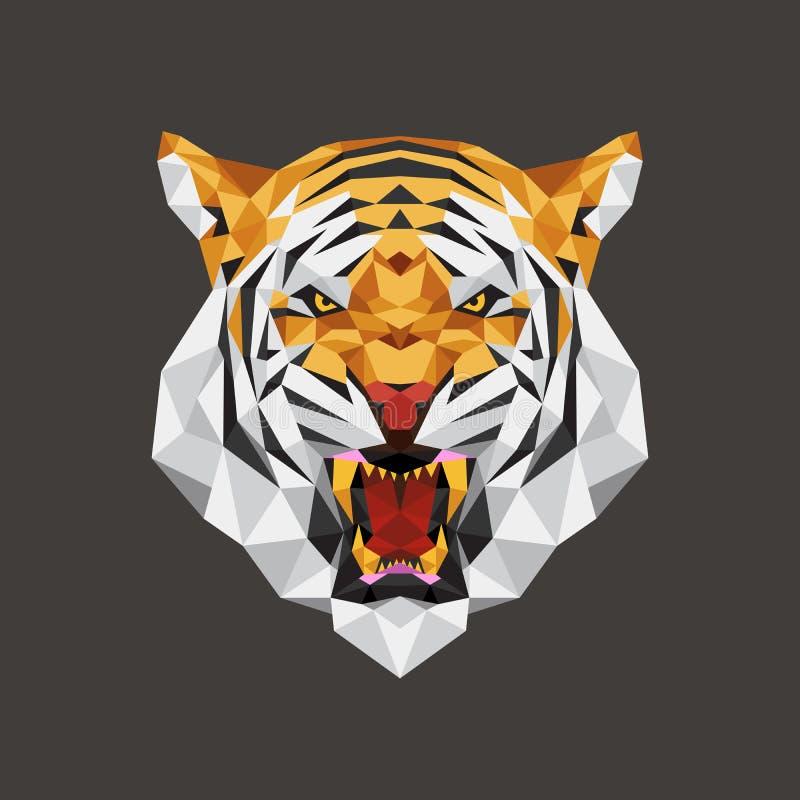 Tygrysa kierowniczy wielobok geometryczny, Wektorowa ilustracja ilustracji